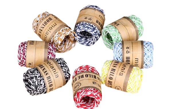 2 stands twisted Paper cord rope