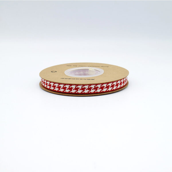 10mm houndstooth ribbon