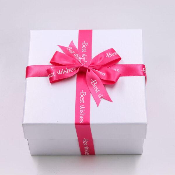 pink ribbon with logo