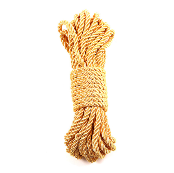 gold polyester twisted rope
