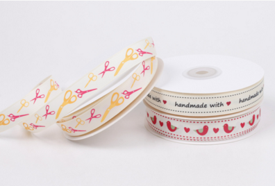 custom logo cotton ribbon