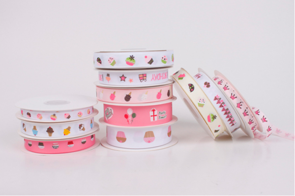 polyester printed cute ribbon
