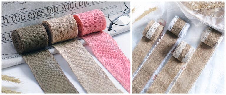 wide hemp lace ribbon