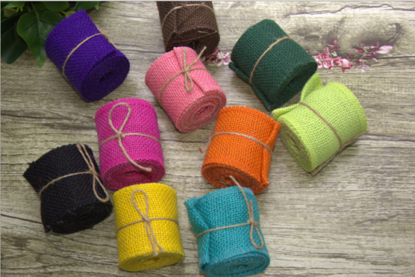 Burlap Satin Rose Gift Ribbon