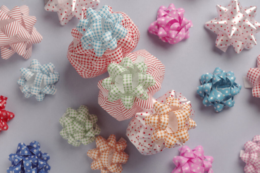 The Pastel Color Ribbon And Bows