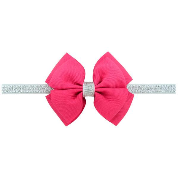 Rose hair bow with headband